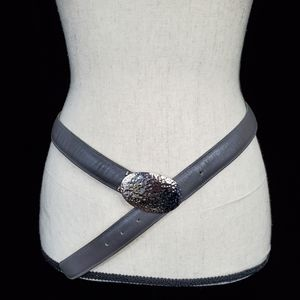 Vintage Calderon Grey Soft Leather Belt Sz Large